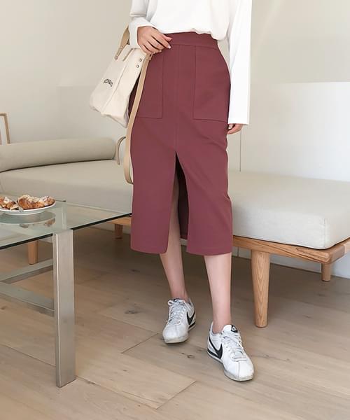 Basic Pocket Long Skirt