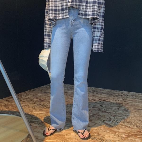 Heather bootcut denim pants