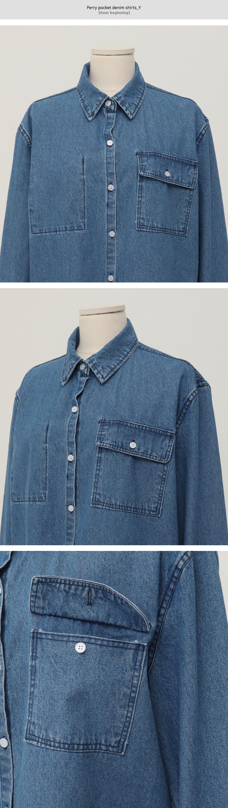 Perry pocket denim shirts_Y
