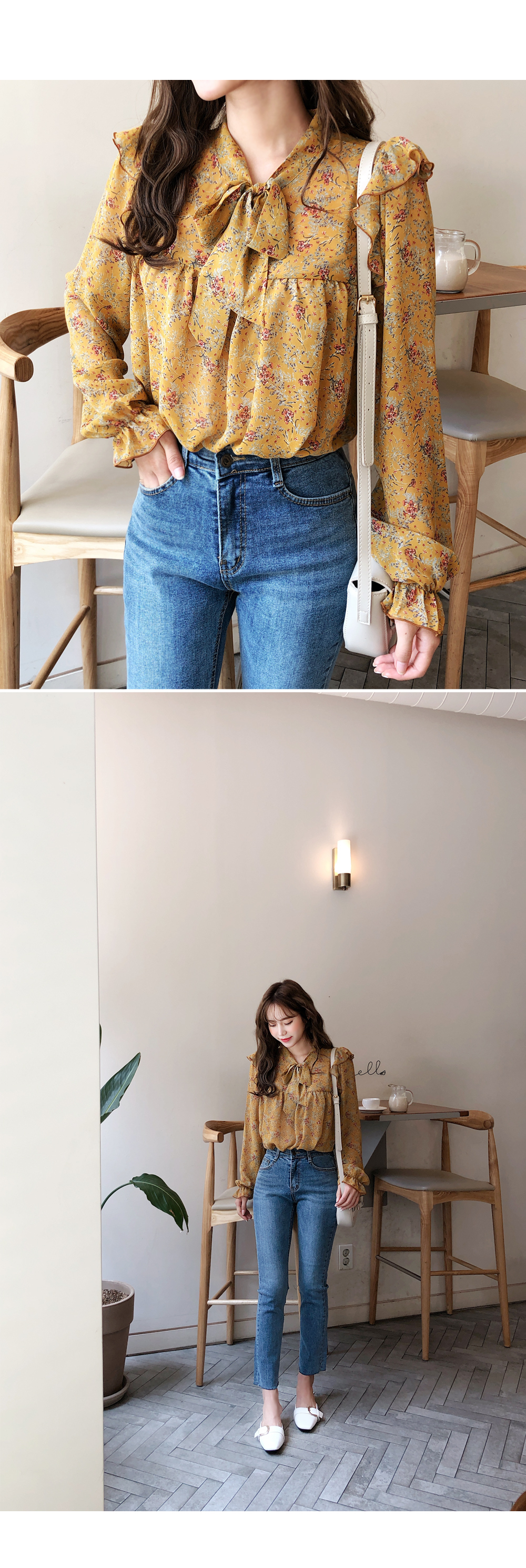 See-through flower blouse