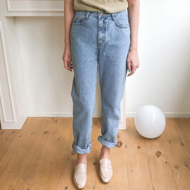 Natural straight fit jeans