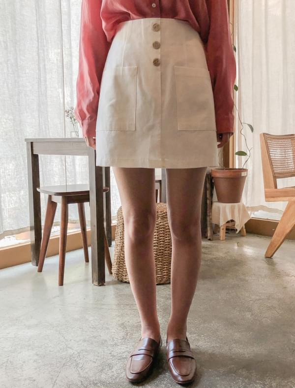 front button mini skirt