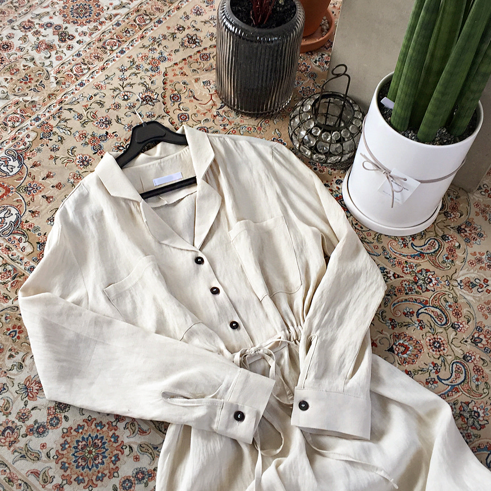 Pocket collar dress