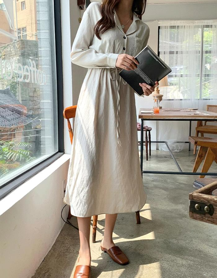 Pocket collar dress