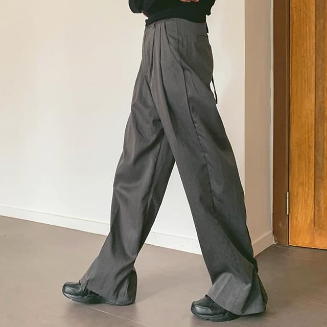 Button Wide Long Slacks