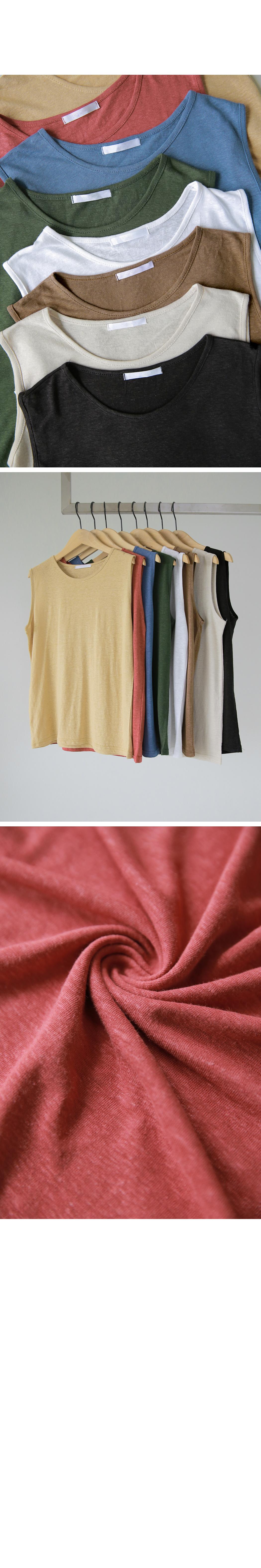 Linen Round Necklace