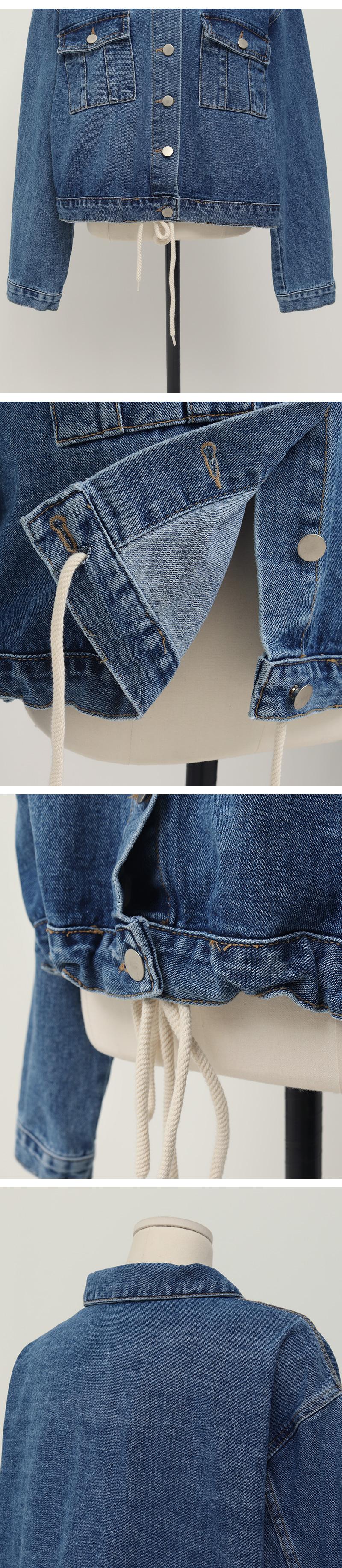 Hidden string denim jacket_C