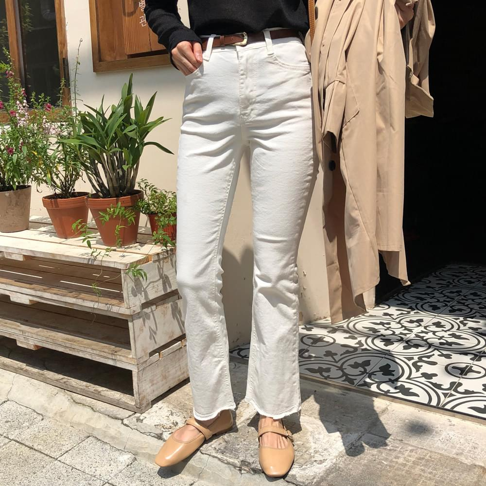 Cotton long Flared trousers