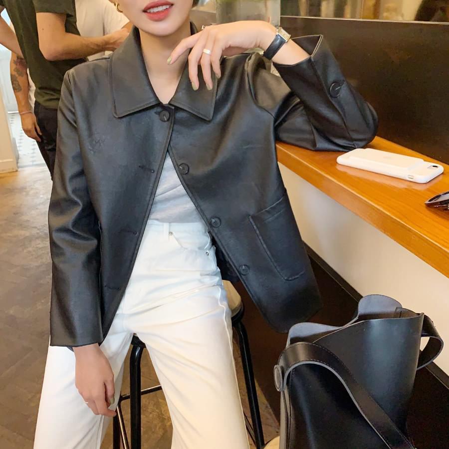 Scone leather jacket