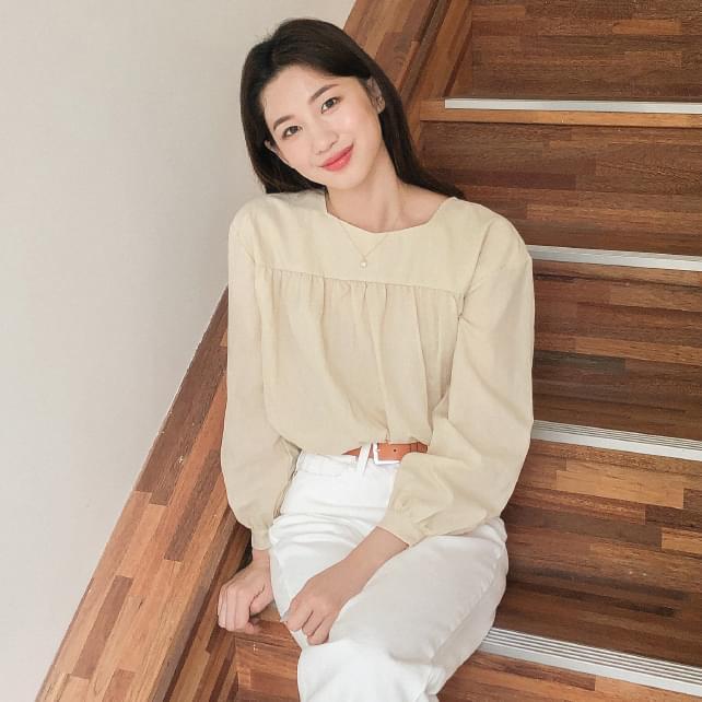 girlish mood shirring blouse