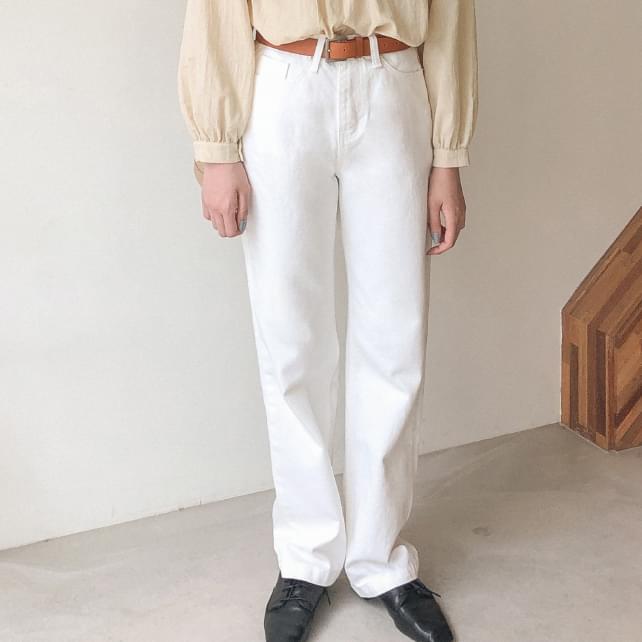 ivory cotton maxi pants