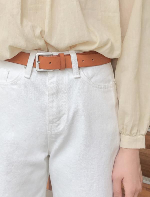 basic square buckle belt