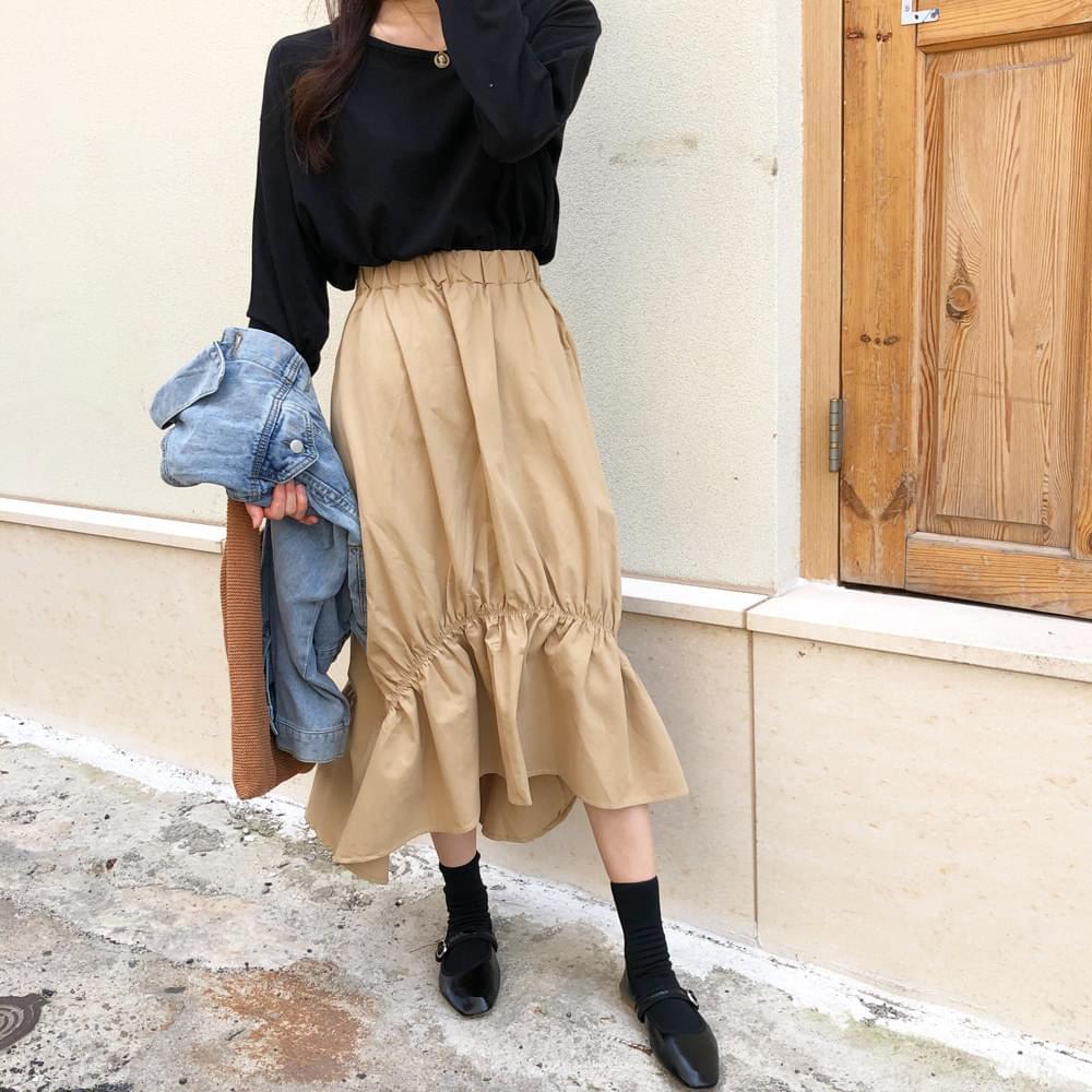 Flaring Long Skirt