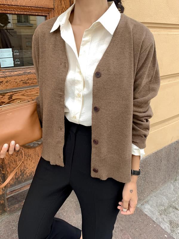 Apple Cinnamon Wool Cardigan