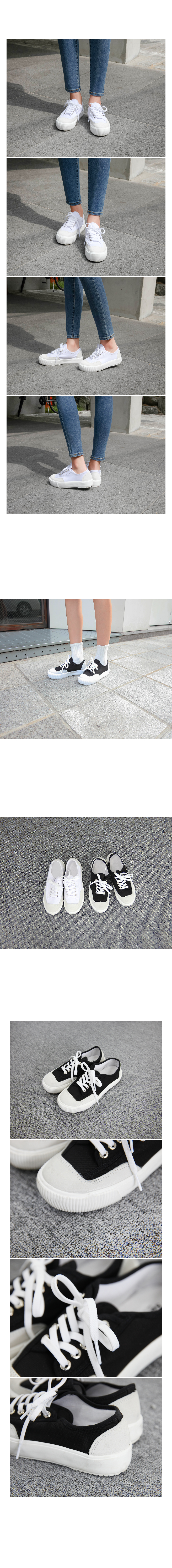 Two tone basic sneakers