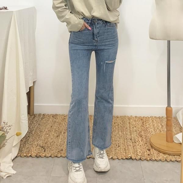 Needs semi-bootcut denim pants