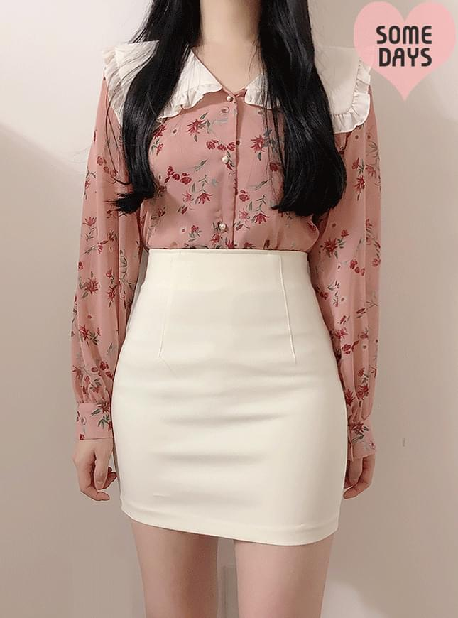 Self-made ♥ rose ruffle collar blouse 襯衫