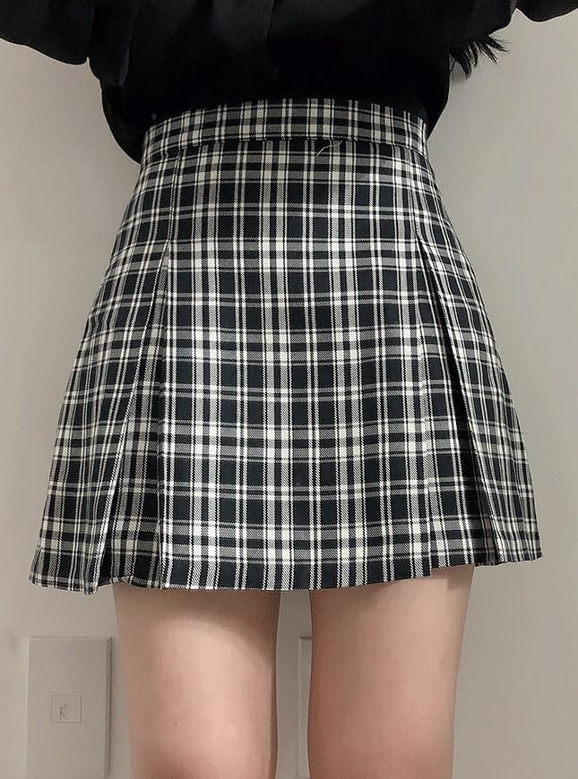 Cuanc Check Miniskirt 裙子