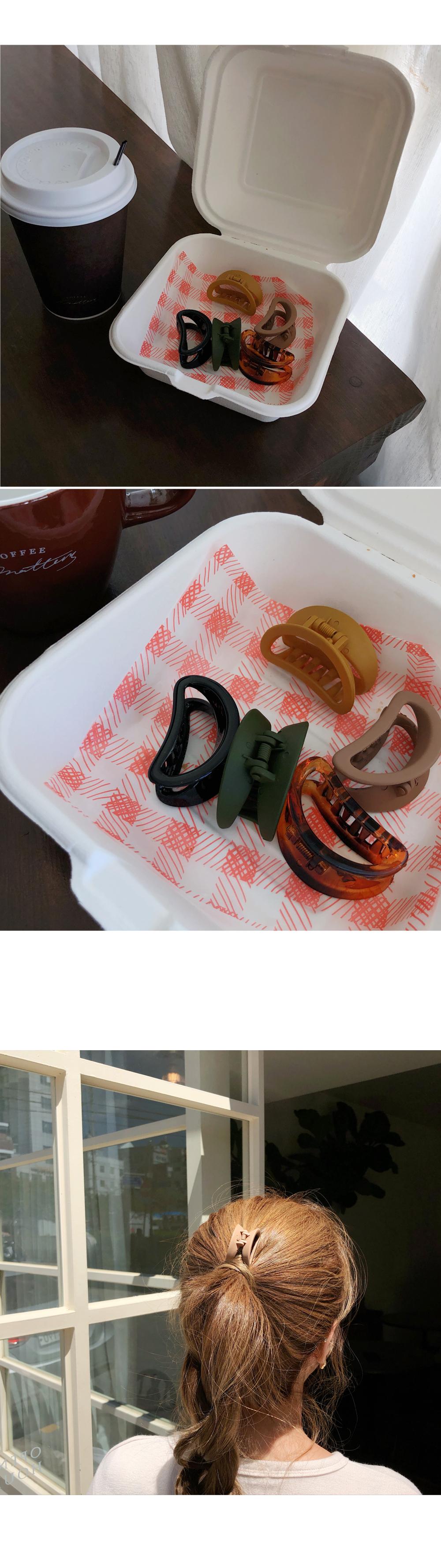 Cute crab hairpin 5 set