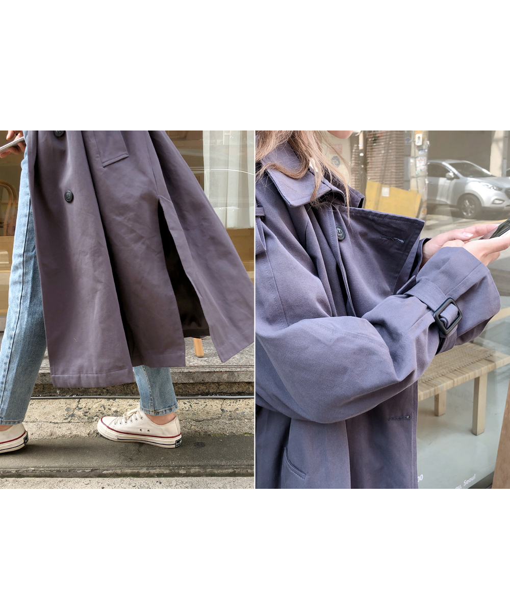 Side trench trench coat