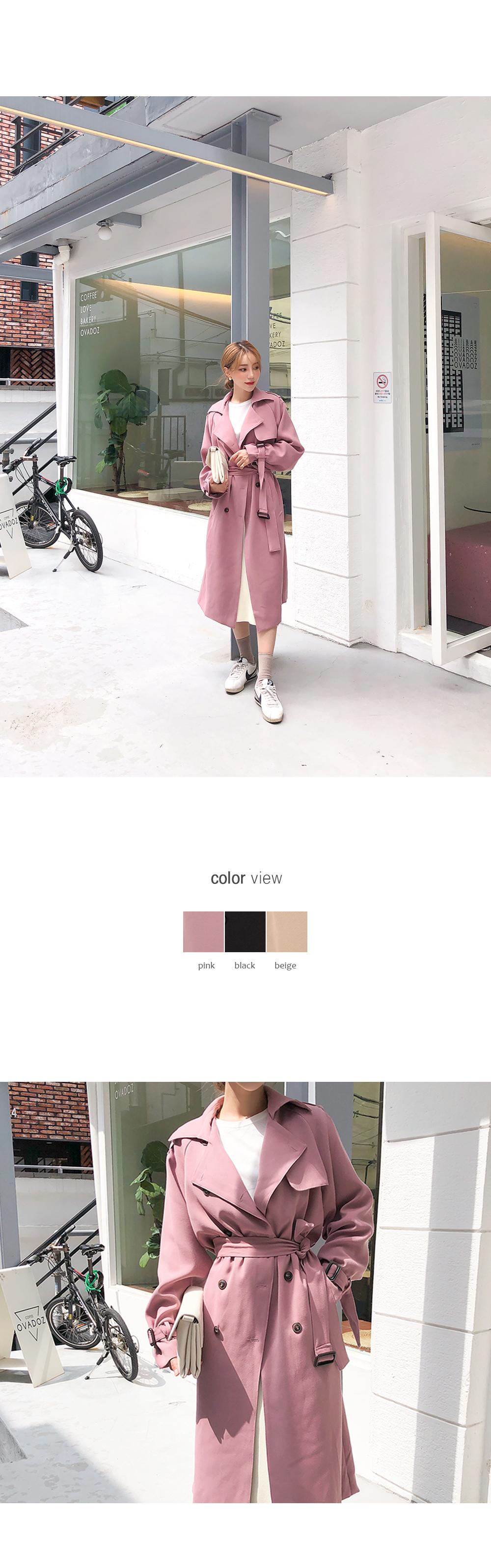 Color Pretty Pick Trench Coat