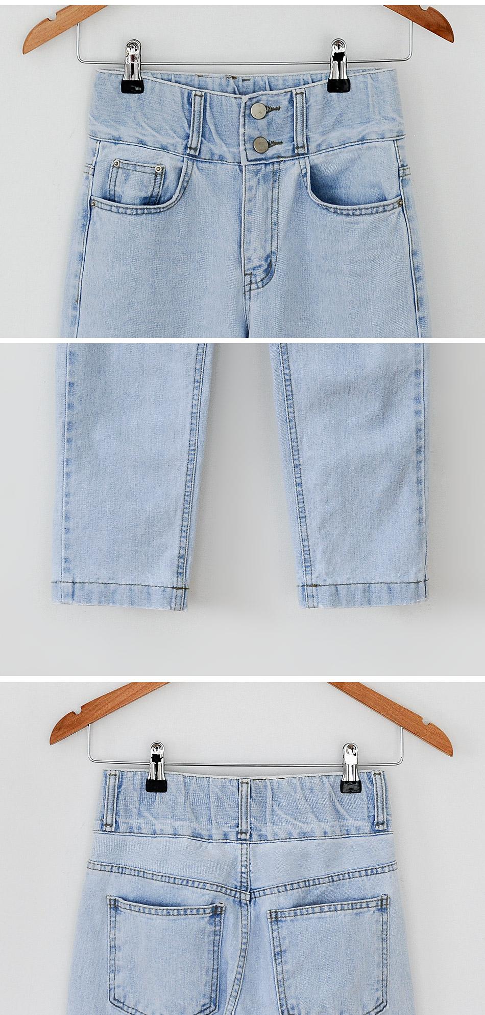 LETO high waist denim pants