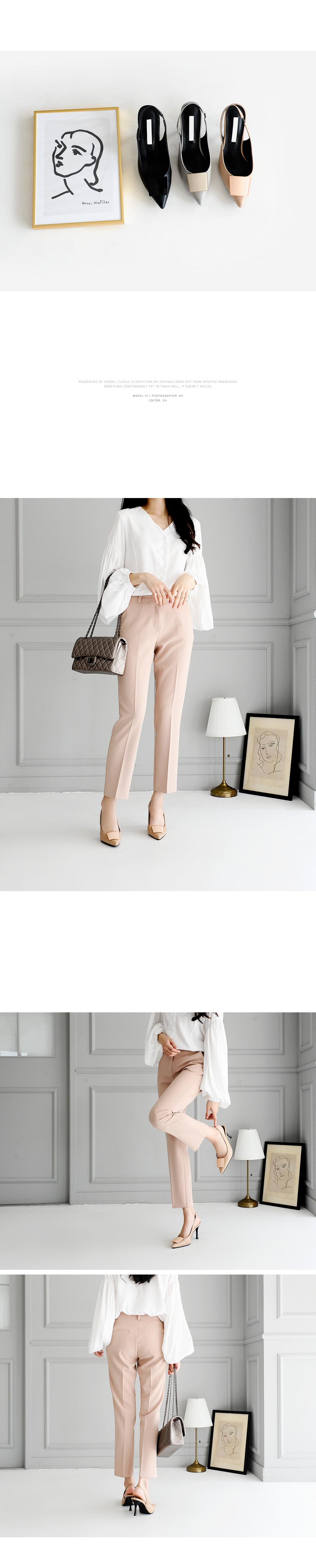 Rocky Slingback High Heels 8cm