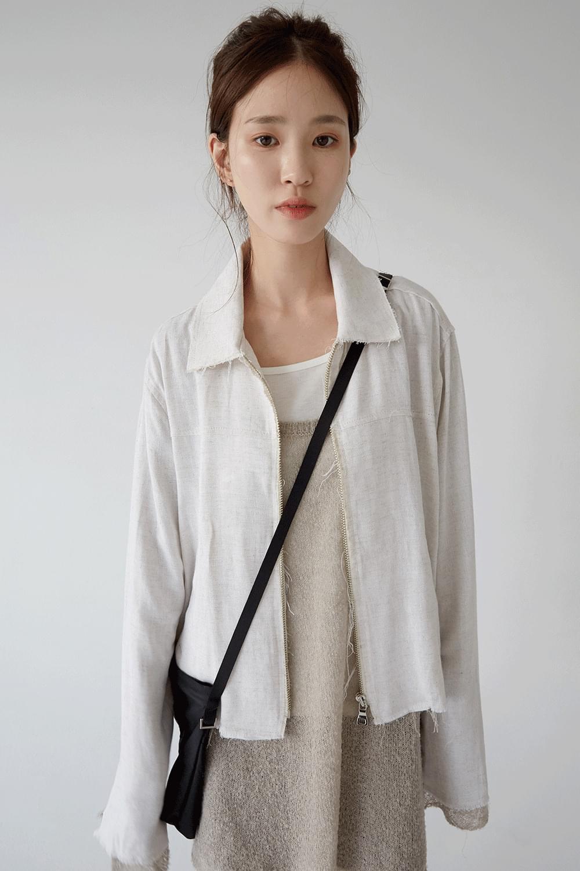simple crispy texture cross bag (3colors)