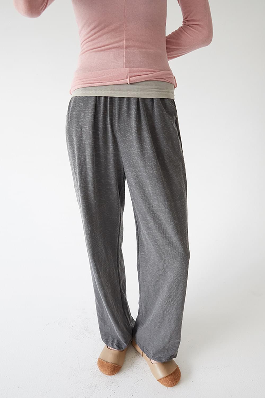 basic comfy cotton pants (2colors)