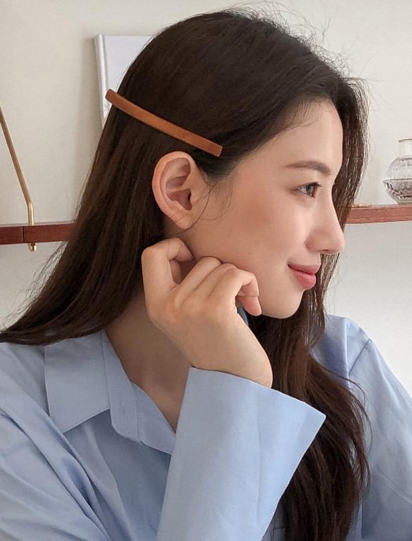 point wood hair pin