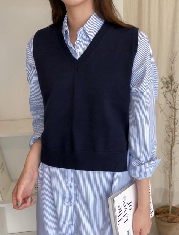 daily unbalance knit vest