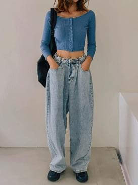 Hook Prodi denim wide pants