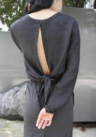 plain linen blouse