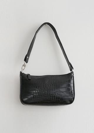 crocodile line shoulder bag