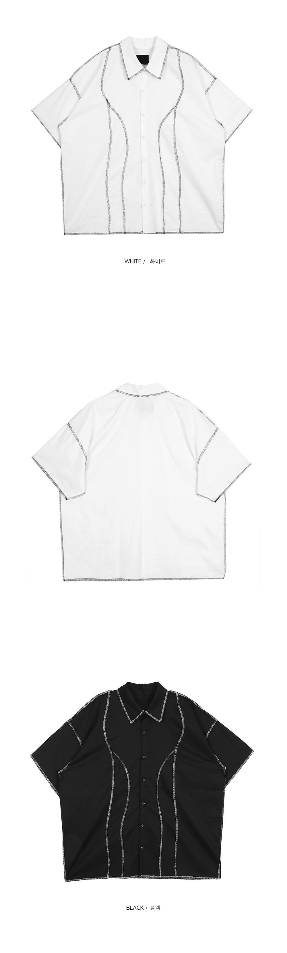 overlock 1/2 shirts - men