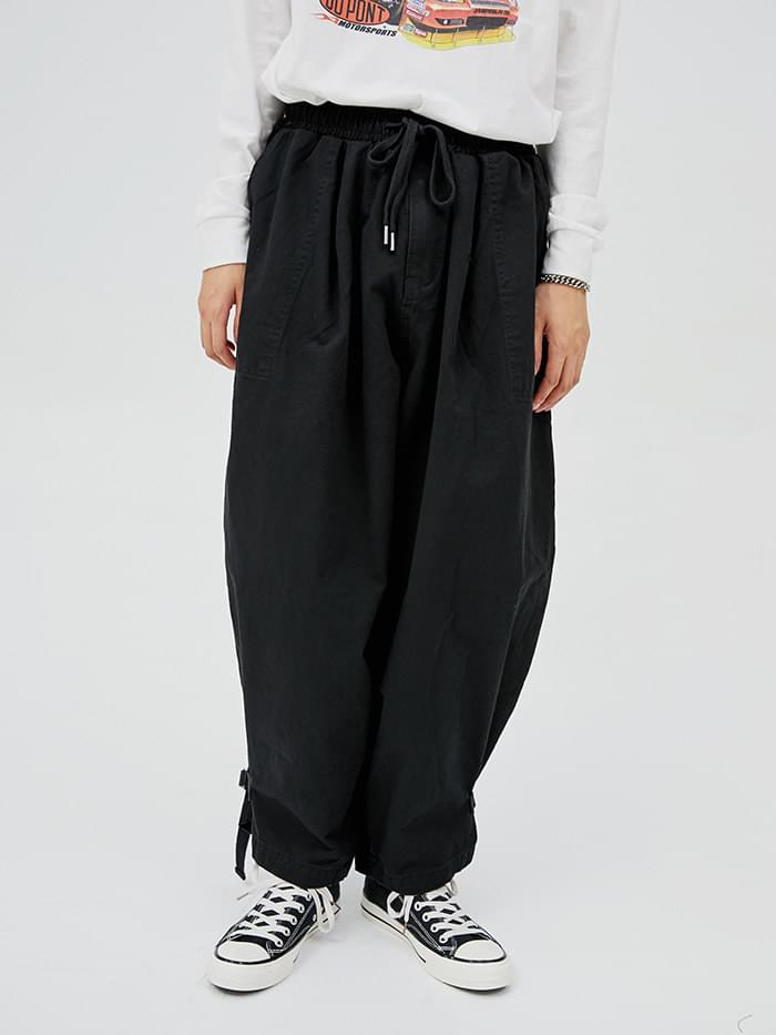 buckle jogger balloon pants - men