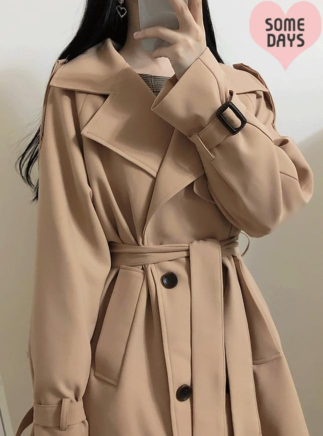 Self-made, new discount ♥ Beige Crystal Trench Coat