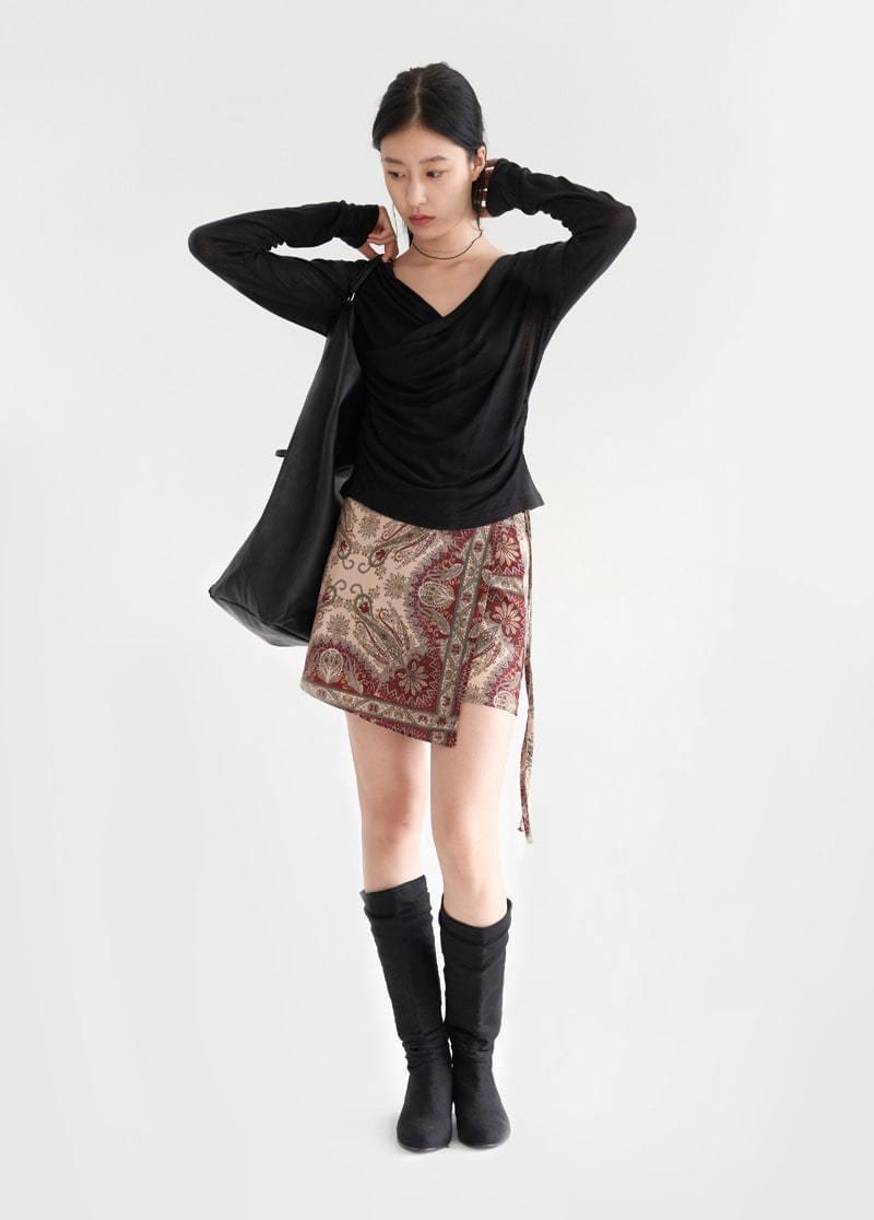 Bohemian wrap skirt 裙子
