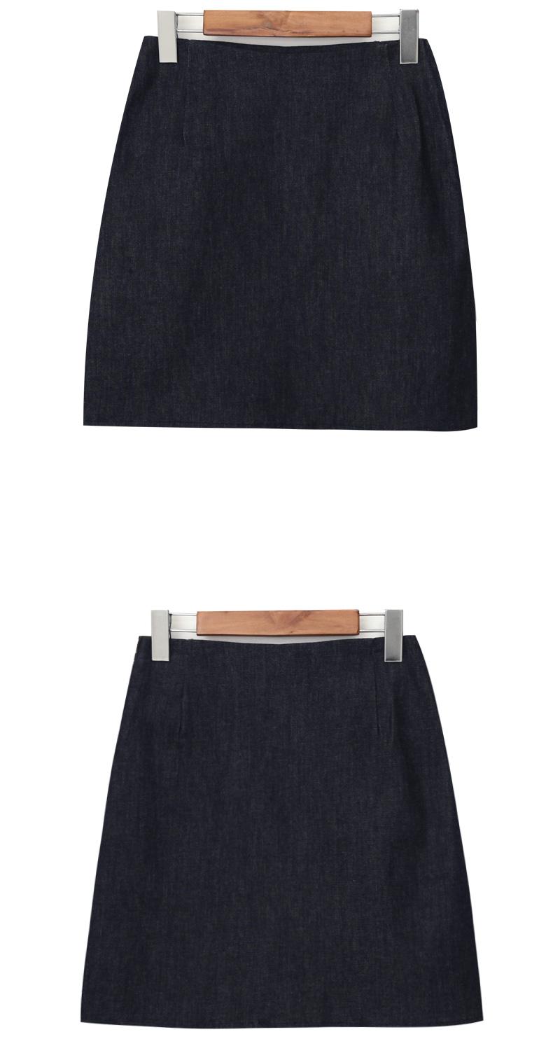 Dark denim mini skirt_C