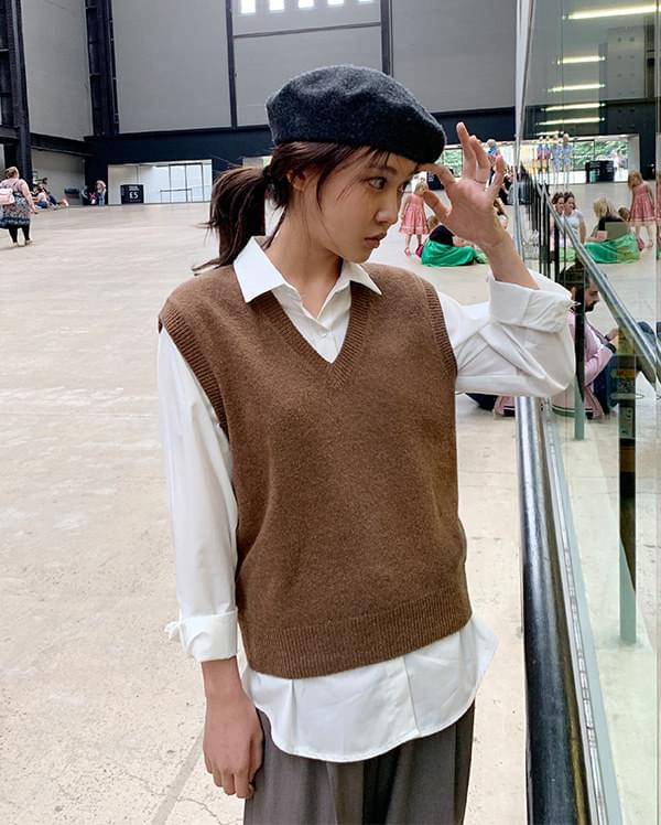 mood wool vest knit 針織衫