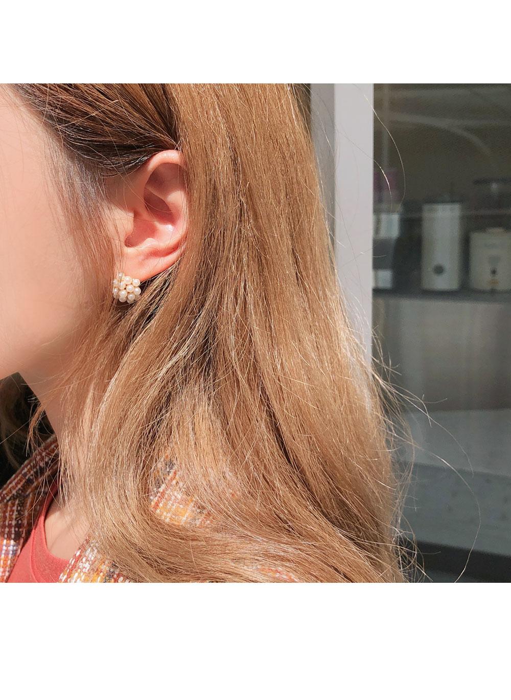 미니멀진주 귀걸이