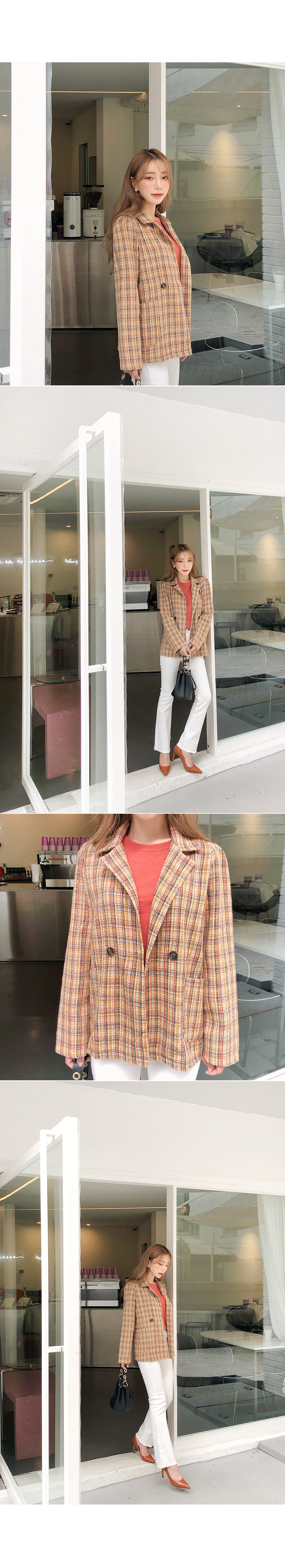 Attractive tweed jacket