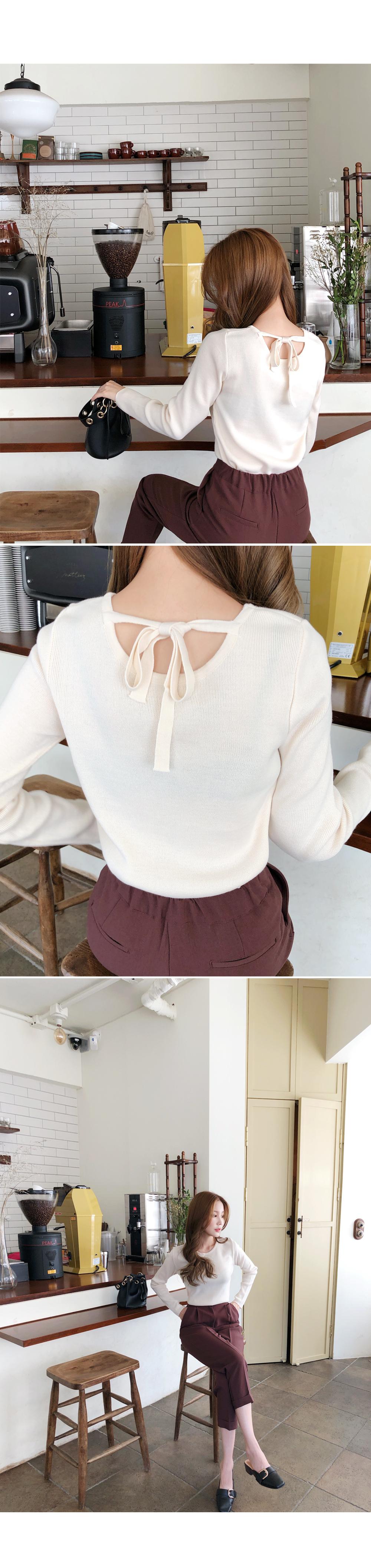 Back Ribbon Beautiful Day Knit