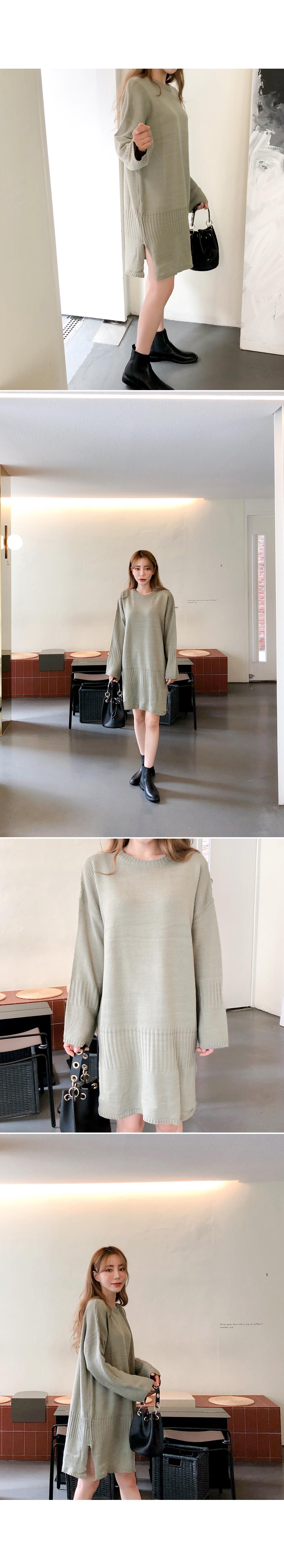 Warm knit dress