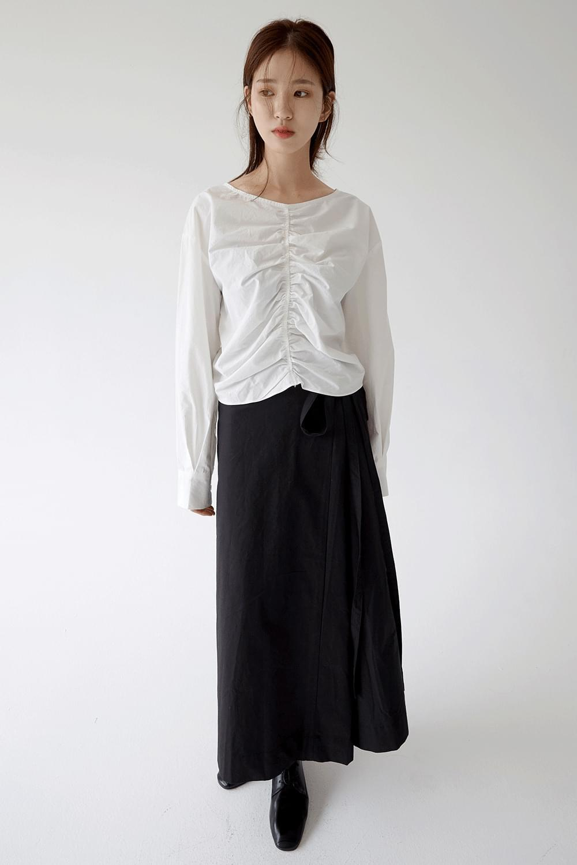 drape detail sensual blouse (3colors)