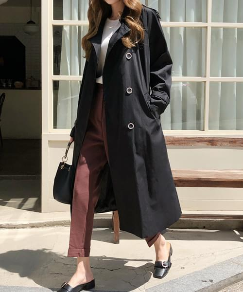 Chic amplification trench coat