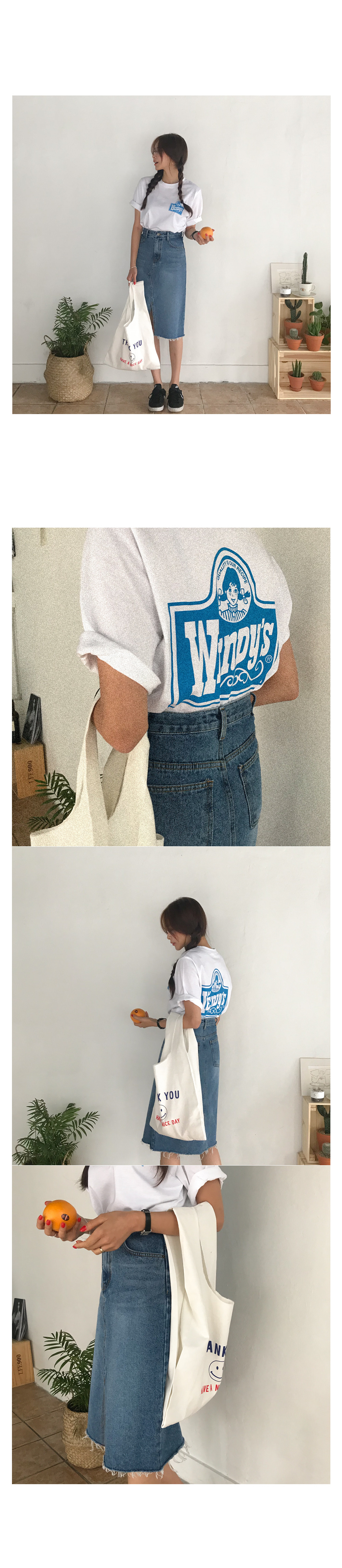 Snoop denim long skirt