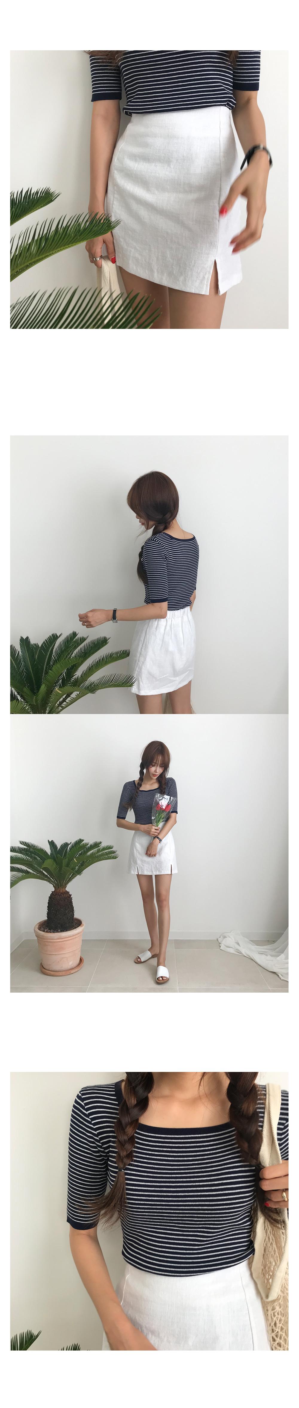 Chicory Linen Trimmed Skirt