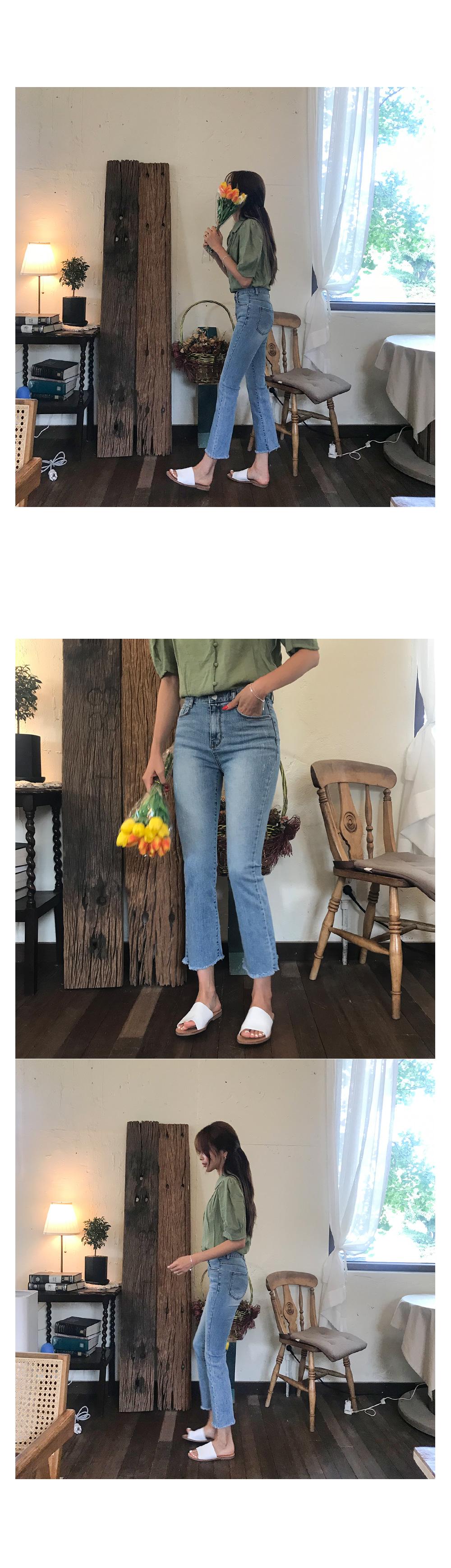 Ellen denim bootcut pants