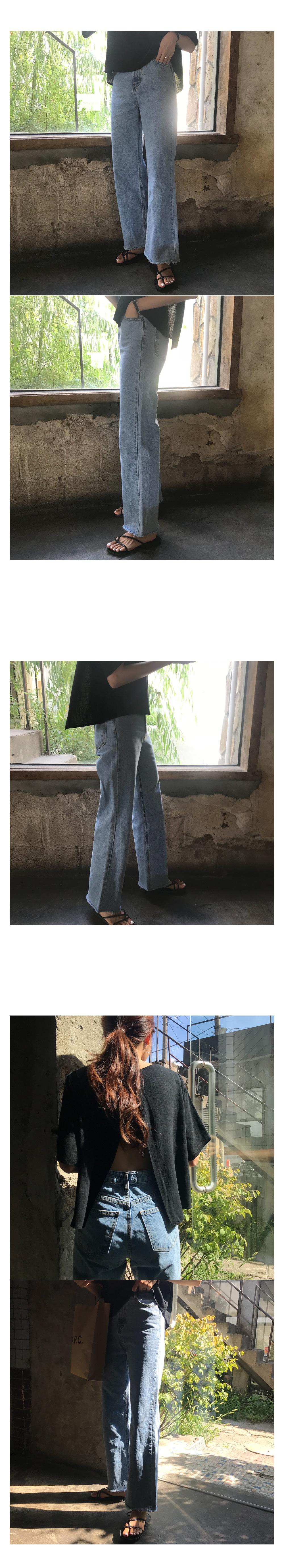 Clad Wide Denim Pants
